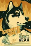 Husky - Retro Gold Mining Ad Plastic Sign by  Lantern Press