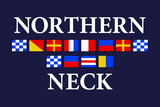 Northern Neck, Virginia - Nautical Flags Plastic Sign by  Lantern Press
