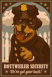 Rottweiler - Retro Security Ad Plastic Sign by  Lantern Press