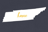 Tennessee - Home State - Gray Plastic Sign by  Lantern Press