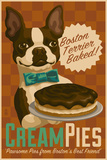 Boston Terrier - Retro Cream Pie Ad Plastic Sign by  Lantern Press