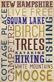 Squam Lake, New Hampshire Plastic Sign by  Lantern Press
