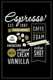 Espresso Freshly Brewed (black) Plastic Sign by  Lantern Press