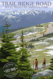Trail Ridge Road - Rocky Mountain National Park - Rubber Stamp Plastic Sign by  Lantern Press