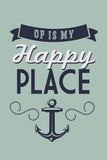 Ocean Park, Maine - OP is My Happy Place Plastic Sign by  Lantern Press