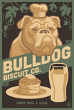 Bulldog - Retro Bisquit Ad Plastic Sign by  Lantern Press