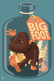 Bigfoot in a Bottle Plastic Sign by  Lantern Press