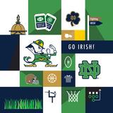 Notre Dame Fighting Irish Collage Plakater af  Lulu