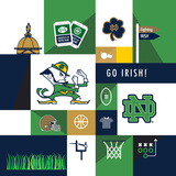 Notre Dame Fighting Irish Collage Prints by  Lulu