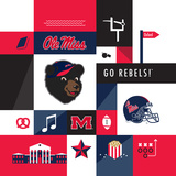 Ole Miss Rebels Collage Prints by  Lulu