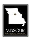 University of Missouri State Map Plakat af  Lulu