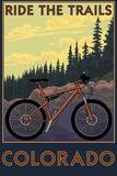 Colorado - Ride the Trails Plastic Sign by  Lantern Press