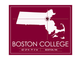 Boston College University State Map Posters by  Lulu