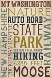 Mt. Washington Auto Road, New Hampshire Plastic Sign by  Lantern Press