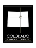 University of Colorado State Map Posters by  Lulu