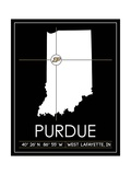 Purdue University State Map Posters af Lulu