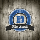 Duke Blue Devils Logo on Wood Zdjęcie autor Lulu
