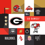 Georgia Bulldogs Collage Posters by  Lulu