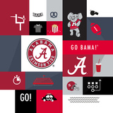 Alabama Crimson Tide Collage Prints by  Lulu