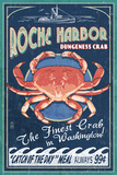 Roche Harbor, WA - Dungeness Crab Vintage Sign Plastic Sign by  Lantern Press