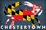 Chestertown, Maryland - Crab Flag Plastic Sign by  Lantern Press