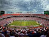 Sun Life Stadium Fotografisk tryk af Mike Ehrmann