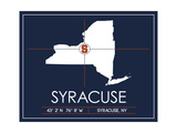 Syracuse University State Map Prints by  Lulu