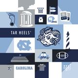 North Carolina Tar Heels Collage Prints by  Lulu