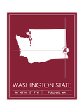 Washington State University State Map Posters af Lulu
