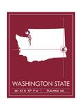 Washington State University State Map Posters af  Lulu