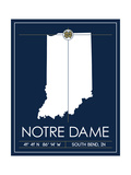 University of Notre Dame State Map Posters by  Lulu