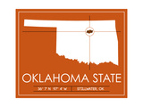 Oklahoma State State Map Plakater af Lulu