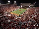 Oklahoma State: Boone Pickens Stadium Fotografisk tryk af Brett Deering