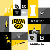 Iowa Hawkeyes Collage Posters af Lulu