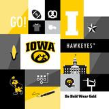Iowa Hawkeyes Collage Prints by  Lulu