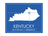 University of Kentucky State Map Prints by  Lulu