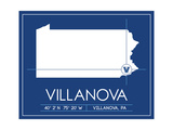 Villanova University State Map Poster by  Lulu