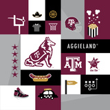 Texas A&M Aggies Collage Prints by  Lulu