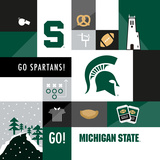 Michigan State Spartans Collage Prints by  Lulu