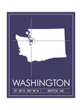 University of Washington State Map Posters af Lulu