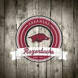 Arkansas Razorbacks Logo on Wood Plakater af  Lulu