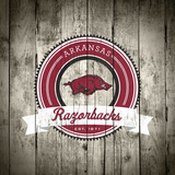 Arkansas Razorbacks Logo on Wood Prints by  Lulu
