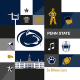 Penn State Nittany Lions Collage Posters af  Lulu