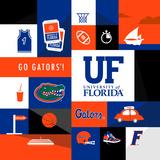 Florida Gators Collage Plakat af Lulu