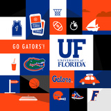 Florida Gators Collage Posters by  Lulu