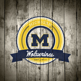 Michigan Wolverines Logo on Wood Photo by  Lulu