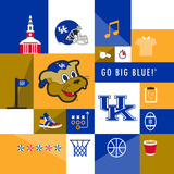 Kentucky Wildcats Collage Plakat af Lulu
