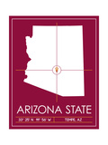 Arizona State University State Map Posters by  Lulu