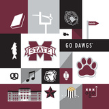 Mississippi State Bulldogs Collage Photo by  Lulu