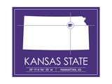 Kansas State University State Map Prints by  Lulu